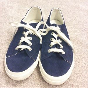 Lauren Ralph Lauren Shoes - Lauren by Ralph Lauren Blue Suede Lace Up Sneakers
